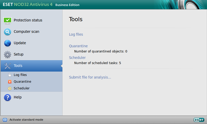 ESET NOD32 Antivirus Business Edition pre Linux Desktop - Tools