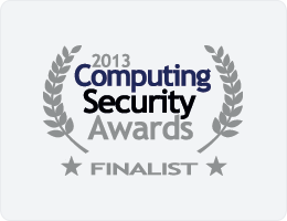 Computing Security Awards - FINALIST - 2013