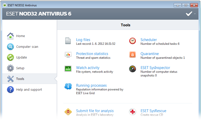 ESET NOD32 Antivirus 6 - Tools
